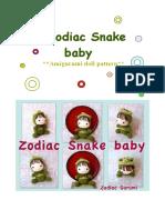 Zodiac Snake Baby- Crochet Amigurumi Doll Pattern-PDF