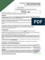 PK852 Venue Letter