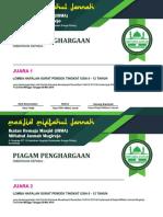 Desain Piagam Penghargaan Juara IRMA 2019