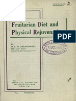 Frutarian diet physical regeneration