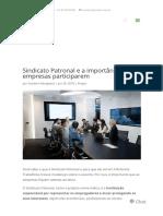 Sindicato Patronal e a Importância de as Empresas Participarem