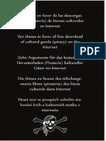 Diez Tesis en Favor de La Pirateria de b