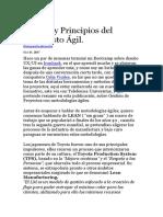 Valores y Principios Del Manifiesto Ágil