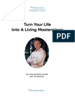 Turn Your Life Into a Living Masterpiece Masterclass by Jon Butcher Workbook
