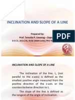 Day 2 - Inclination and Slope of a Line