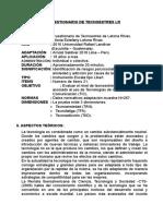 Manual Test Tecnoestres Lr