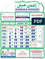 anjuman e hussaini calendar, 2019