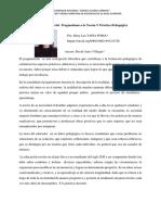 Contribuciones Del Pragmatismo en La Teoría y Practica Pedagógica