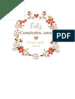 Etiquetas Cumpleaños Amor