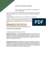 INTRODUCCIÓN a LA ESTADISTICA INFERENCIAL- Concepto Basicos, Valor Esperado, Varianza y Desviación (1)