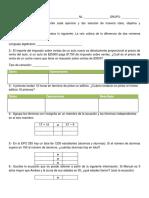 Evaluacion de Taller de Mate (ALGEBRA)