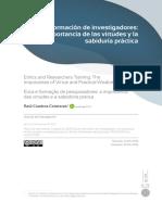 Artículo Ética y Formación de Investigadores