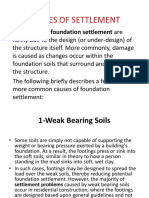 Causes of Settlement