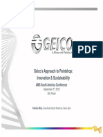 Geico s Approach to Paintshop- Innovation & Sustainability
