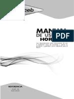 Manual de Usuario horno haceb