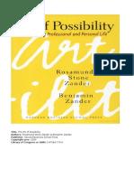 Book Summary of Art of Possibilities