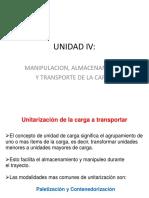 UNIDAD IV Unitarizacion de La Carga, Almacenamiento y Distribucion Fisica