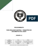 Procedimiento Para Realizar Control y Registro de Documentos Del SGSST