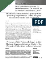 Presencia de paleopatologías