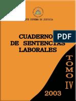 Cuaderno de Sentencias Laborales 2003