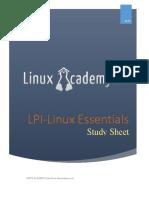 Linux Essentials Study Sheet