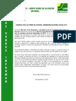 Los Verdes InformanElecciones 2011