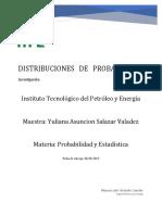 Investigación Distribuciónes de Probabilidad
