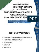 Pruebas Fisicas Policial Nacional