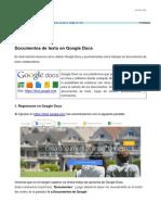 Tutorial Google Docs Documentos