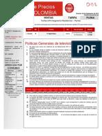 Politicas Febrero 2015_ptar 1005 Tarifa Dth