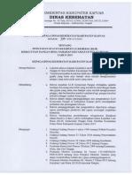 SK Kepala Dinas Kesehatan Keracunan Pangan di Desa Narahan, Kecamatan Pulau Petak, Kabupaten Kapuas, Kalimantan Tengah
