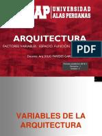 4. Variables Dela Arquitectura