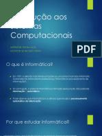 01 - Introdução Aos Sistemas Computacionais
