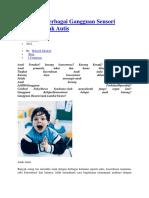 Mengatasi Berbagai Gangguan Sensori Integrasi Anak Autis