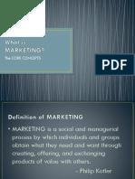 Presentation - Core Concepts in Marketing