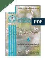 GAZETA MATEMATICA Seria B N0 4/2019