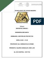 Reportes de Unidad I de GP