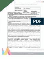 Acta de trabajo de la Academia de Comunicación y Lenguaje