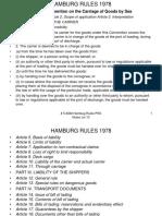 # 5 Hamburg Rules