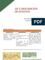 Analisis y Descripción de Puestos