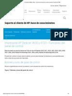 Impresoras HP DeskJet 3630 y 4720 - Funciones del panel de control _ Soporte al cliente de HP®