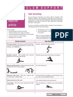 safe stretching