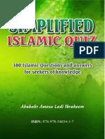 Simplified Islamic Quiz Abubakr Ladi Ibraheem