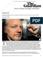 The Guardian View on Julian Assange_ Send Him to Sweden _ Editorial _ Opinion _ the Guardian
