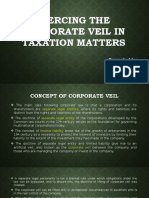 Piercing the Corporate Veil in Taxation Matters [Autosaved]