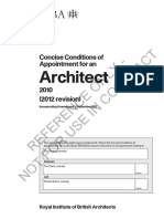 AR Architecture Concise Conditions of Appointment