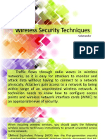 Wireless Security Techniques
