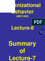 Organizational Behaviour - MGT502 Power Point Slides Lecture 8.ppt