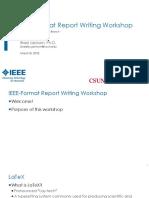 IEEE Format Report Writing Workshop