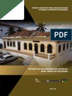 Roteiro de Procedimentos Técnicos Para Obras de Restauro